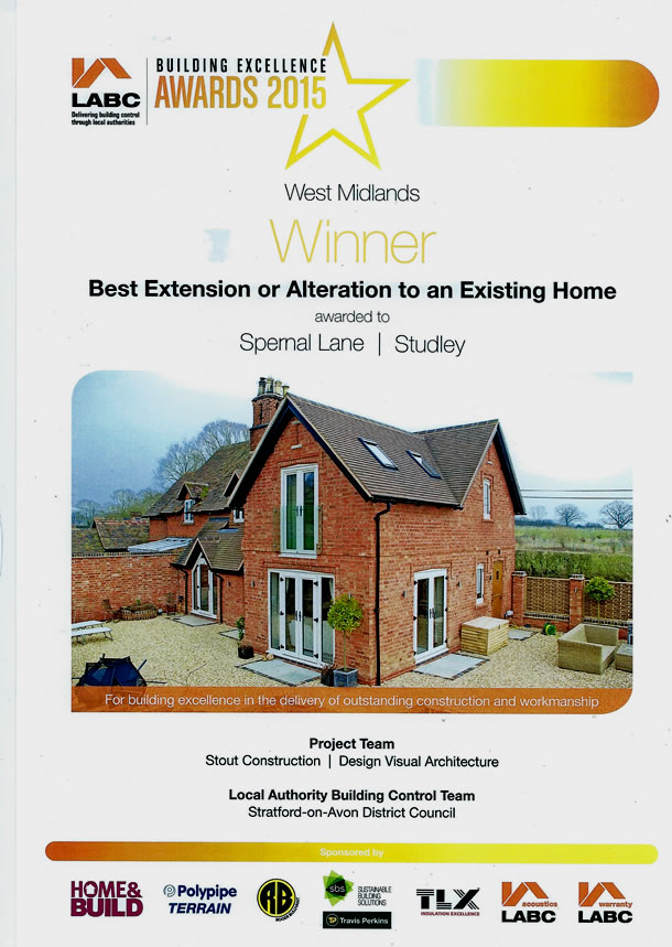 LABC West Midlands Winner - Stout Construction